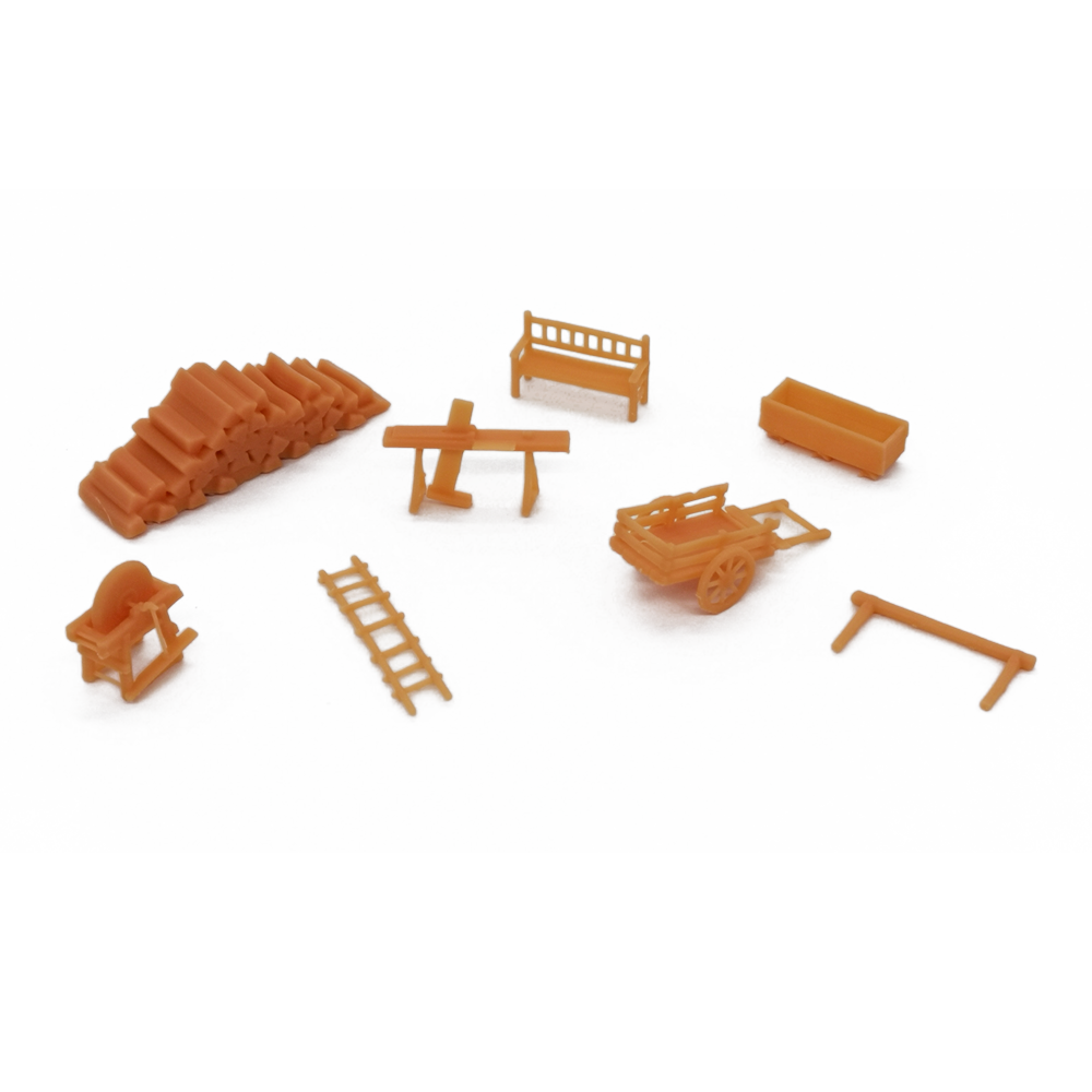 Country Farm Accessory Set HO Scale 1:87