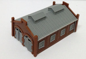 Locomotie Shed / Engine House (2-Stall) Z Scale Outland Models Train Railway