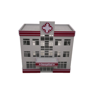 Modern Medical Centre Hospital Building HO Scale