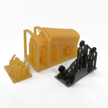 Load image into Gallery viewer, School Bus with Kids and Parents N Scale 1:160