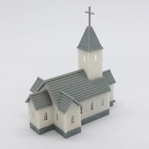 Country Church 1:160 N Scale Outland Models Railroad Scenery