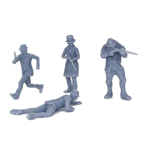 Western Cowboy Gunman Figure Set 1:48 O Scale