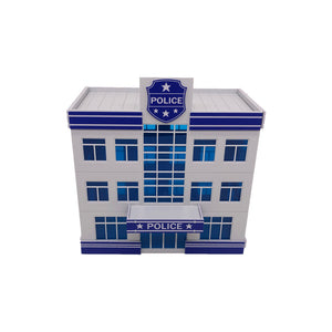 Modern Police Department Building HO Scale 1:87