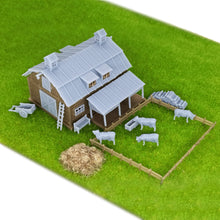 Load image into Gallery viewer, Country Farm Barn w Accessories Z Scale 1:220