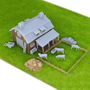 Country Farm Barn w Accessories N Scale 1:160