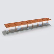 Load image into Gallery viewer, Train Station Passenger Platform with Accessories (Full-Covered) 1:220 Z Scale Outland Models Railway Scenery