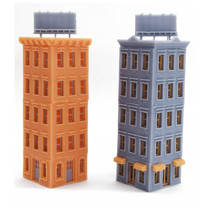 Downtown Apartment Set (Corner) Z Scale 1:220