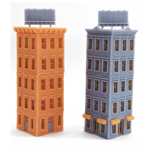 将图片加载到图库查看器,Downtown Apartment Set (Corner) N Scale 1:160