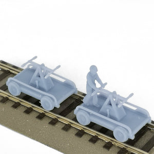 Railroad Trolley Handcar Set 1:87 HO Scale Outland Models Railroad Scenery