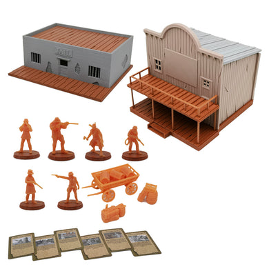 Bloody West Series Cowboy & Terrain Mega Set 28mm Scale