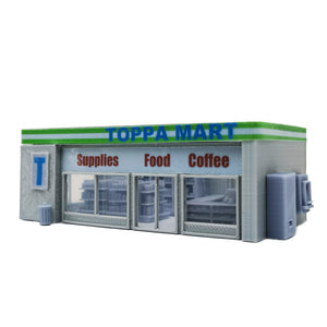 Convenience Store & Accessories 1:87 HO Scale