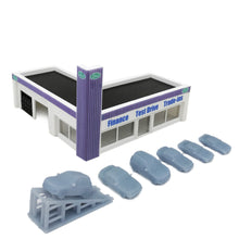 Load image into Gallery viewer, Car Dealership Building 1:160 N Scale