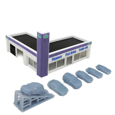Car Dealership Building 1:220 Z Scale