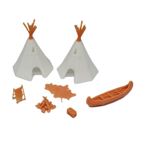Native American Indian Camp Set 1:64 S Scale