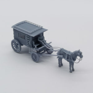 Old West Carriage / Wagon - Prisoner Wagon 1:87 HO Scale Outland Models Scenery Vehicle