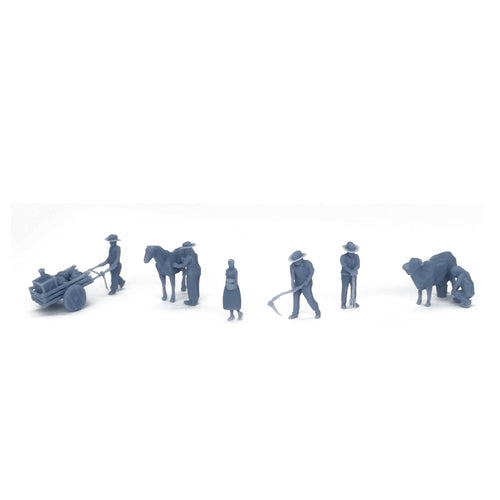 Country Farmer Peasant Figure Set HO Scale 1:87