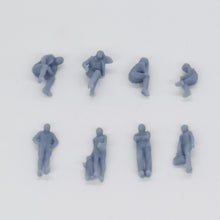 Load image into Gallery viewer, Train Station Passenger Figurine Set 1:87 HO Scale Outland Models Railway Scenery