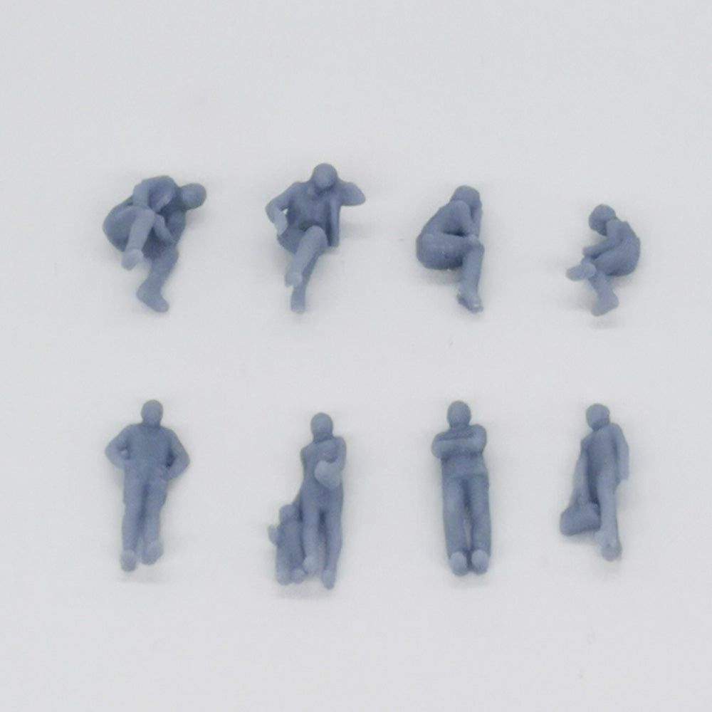 Train Station Passenger Figurine Set 1:87 HO Scale Outland Models Railway Scenery