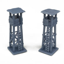 Load image into Gallery viewer, Small Wooden Style Watchtower 2pcs N Scale 1:160