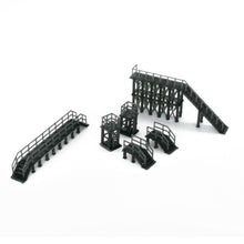 Load image into Gallery viewer, Industrial Platform & Stairs Set 1:160 N Scale Outland Models Railroad Scenery