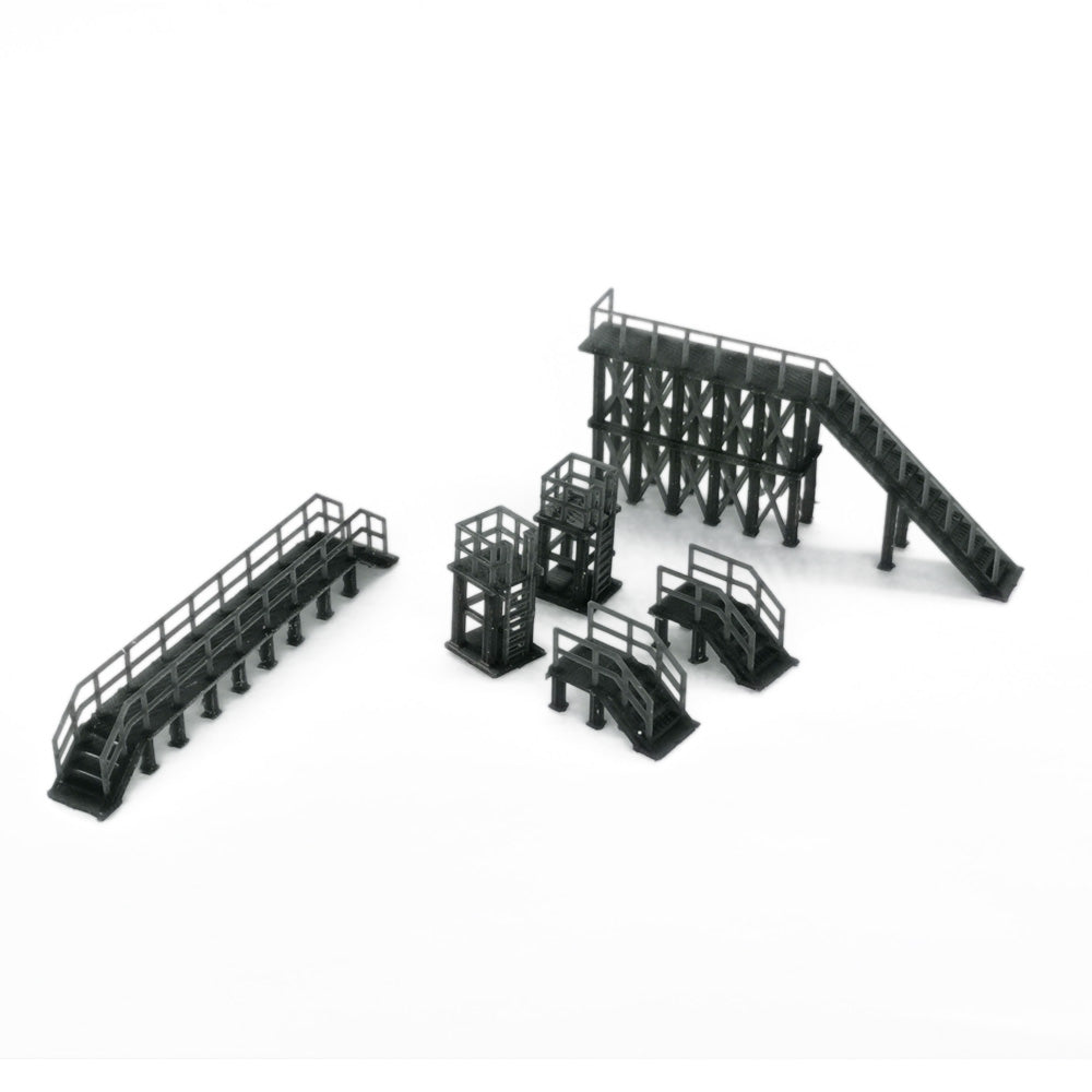 Industrial Platform & Stairs Set 1:160 N Scale Outland Models Railroad Scenery