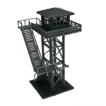 将图片加载到图库查看器,Large Watchtower Grey/Black N Scale 1:160