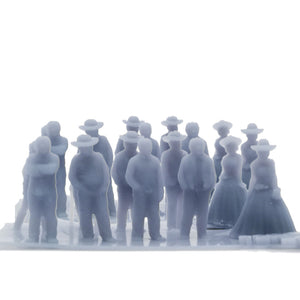 Old West People Set 1:220 Z Scale Outland Models Scenery Figurine