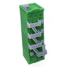 Load image into Gallery viewer, City Apartment (Green) w Fire Escape Z Scale