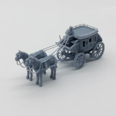 Old West Carriage / Wagon - Stagecoach 1:87 HO Scale Outland Models Scenery Vehicle