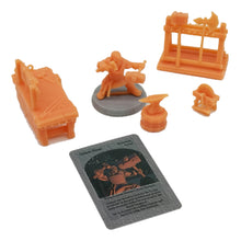 Load image into Gallery viewer, War of Tyrant Series Blacksmith Human/Dwarf Figure & Accessories 28mm