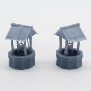 Western Country Accessory Well 2 pcs 1:87 HO Scale Outland Models Railway Scenery