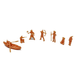 Native American Indian Tribe Figure Set HO Scale