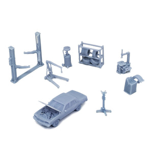 Auto Service Shop & Accessories 1:87 HO Scale