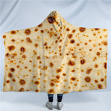 Corn Tortilla Hooded Blanket