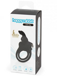 Happy Rabbit Love Ring Rechargeable Black