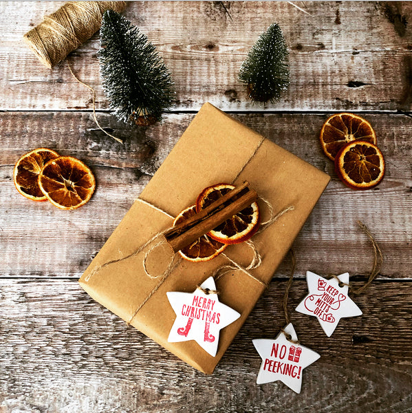Elf Shoes Christmas Star Gift Tag