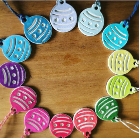 Set of 10 Clay Christmas Baubles - Cornucopia Clay