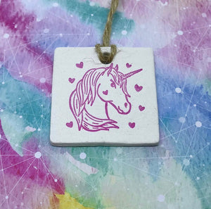 Unicorn Clay Tag - Cornucopia Clay