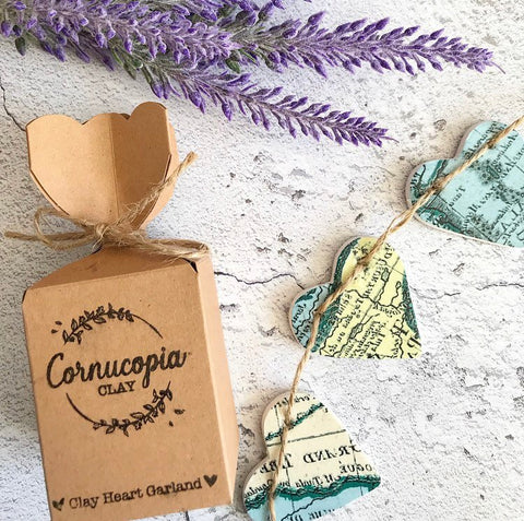 Travel Map Garland - Cornucopia Clay