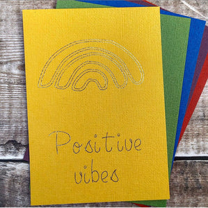 Positivity Print Postcard, Positive Affirmations, Gold Foil Print, Red and Gold, Miss Your Face, Positive Print, Wildflowers, Letter Writing