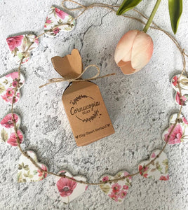 Pink Floral Clay Garland
