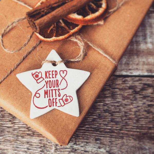 Mitts Off Christmas Star Gift Tag