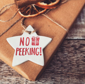 No Peeking Christmas Gift Tag