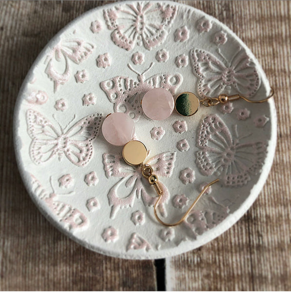Pink Shimmer Butterfly Trinket Dish
