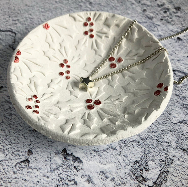 Red Holly Berry Trinket Dish