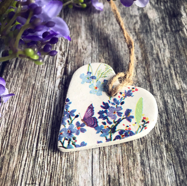 Floral Clay Heart