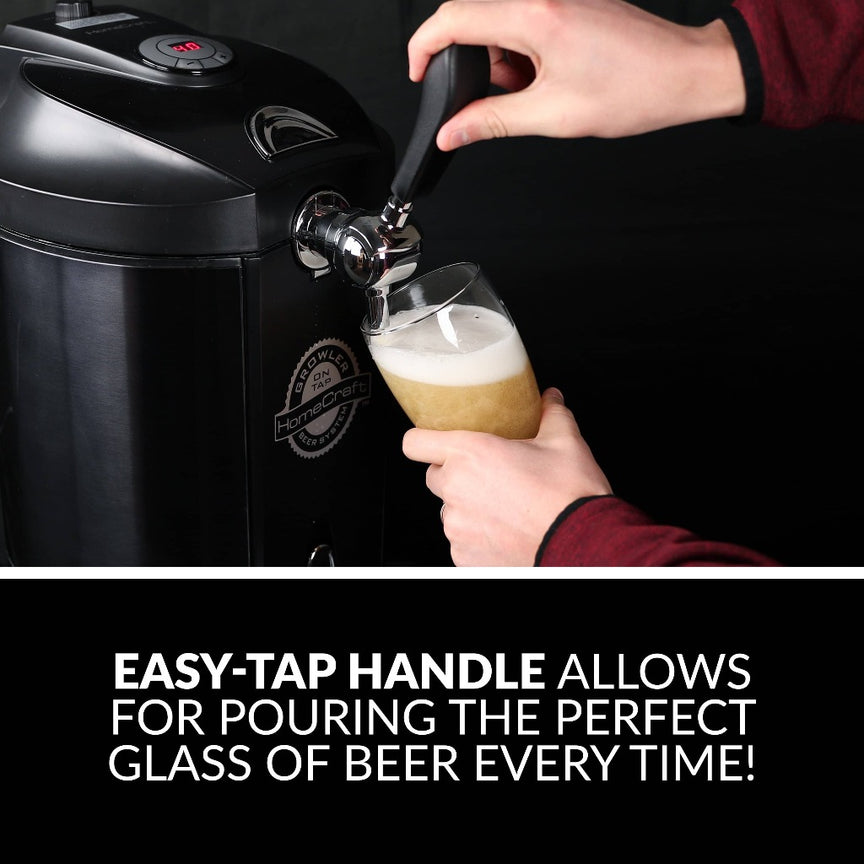 HomeCraft™ Black Stainless Steel Tap Beer Growler Cooling System