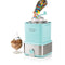 2-Quart Electric Ice Cream Maker With Candy Crusher, Aqua/Stainless Steel
