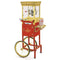 Vintage Professional Popcorn Cart, 8-Ounce Kettle, 53-Inches Tall - Red