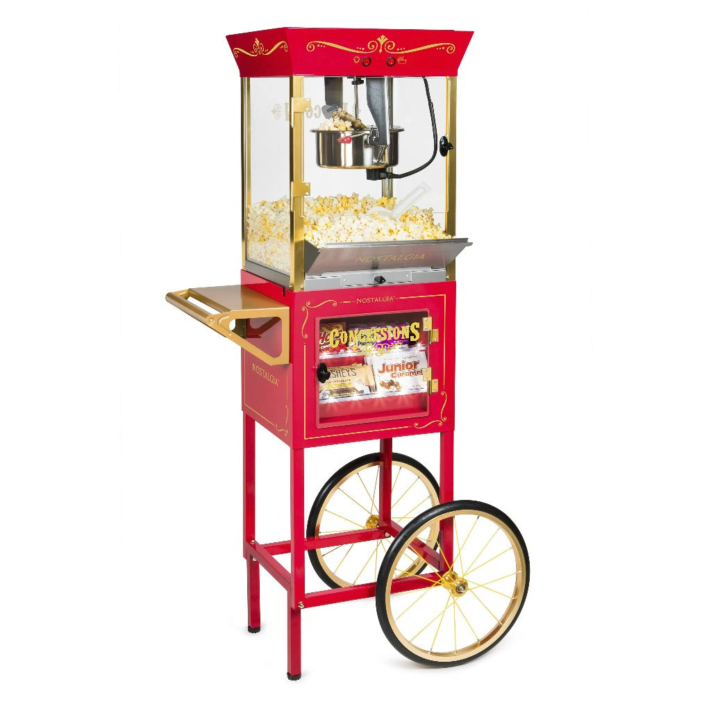 Nostalgia CCP610 Vintage New 10-Ounce Professional Popcorn & Concession Cart - 59 Inches Tall